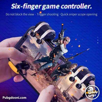 دسته بازی موبایل مکانیکی ۶ انگشتی HOCO GM1